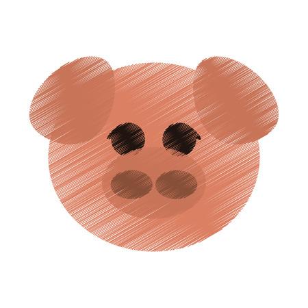 reserve: pig cute animal cartoon icon image vector illustration design Illustration