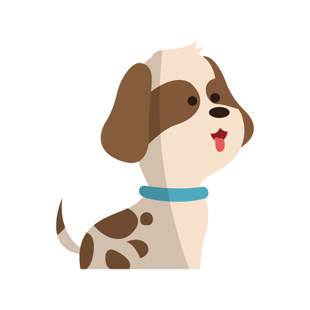 cute dog animal, cartoon icon over white background. colorful design. vector illustration