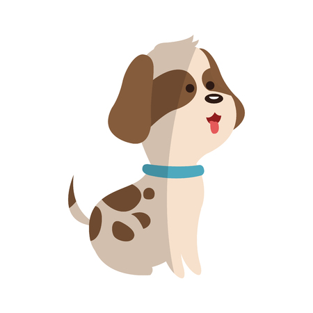 reserve: cute dog animal, cartoon icon over white background. colorful design. vector illustration