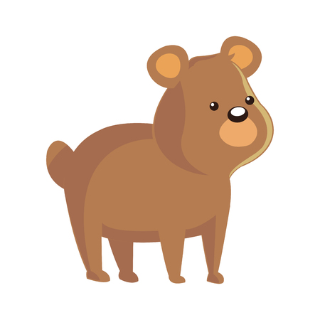 reserve: cute bear animal, cartoon icon over white background. colorful design. vector illustration Illustration