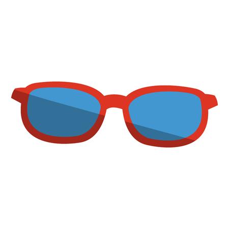 glasses icon over white background. colorful design. vector illustration