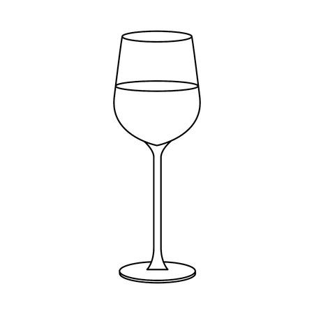 wineglass icon over white background. vector illustration Illustration