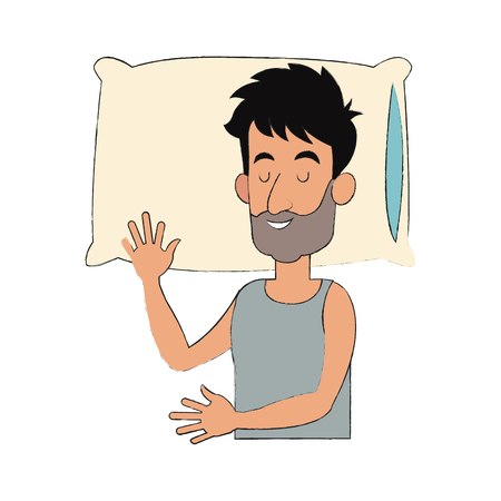 slepping man, cartoon icon over white background. vector illustration Illustration