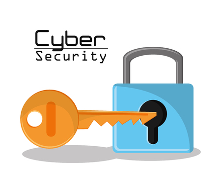 key hole: cyber security padlock key protection data access vector illustration eps 10