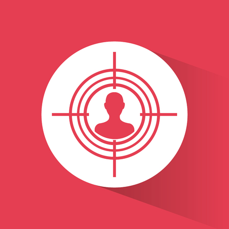 cyber security target protection system vector illustration eps 10 Illustration