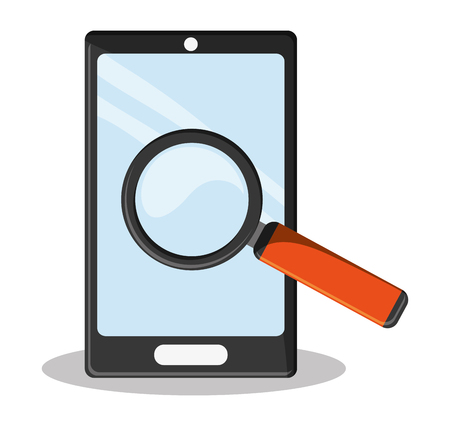 classified: cyber security smartphone search Illustration