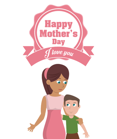 happy mothers day card - i love you party decoration