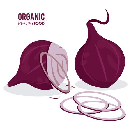 onion rings: organic healthy food onion sliced Illustration