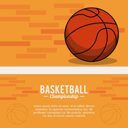 basketball sport ball championship poster
