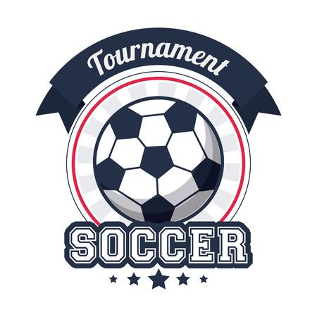voetbal sporttoernooi badge afbeelding