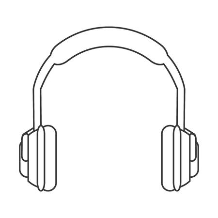 flat design noise isolating headphones icon vector illustration  イラスト・ベクター素材