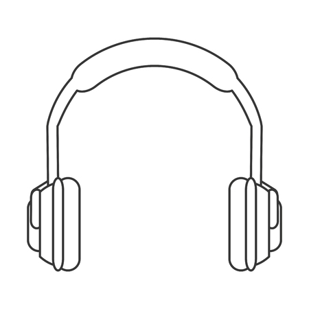 flat design noise isolating headphones icon vector illustration Illustration
