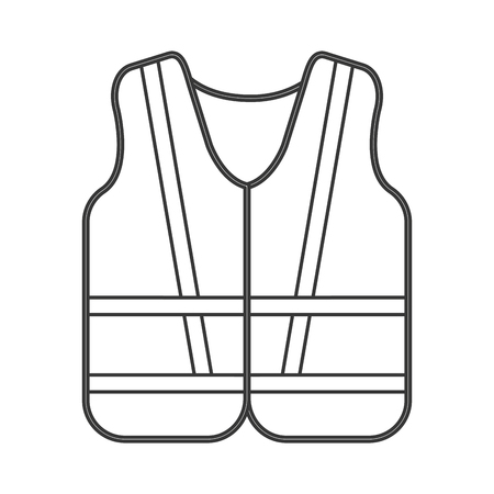 flat design safety vest icon vector illustration 일러스트