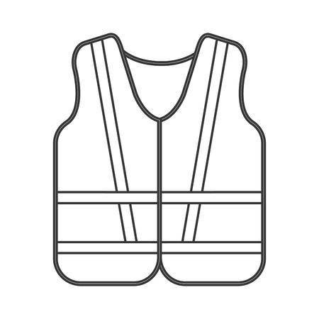 flat design safety vest icon vector illustration Illustration