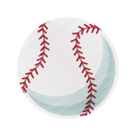 baseball ball icon image vector illustration design Illustration