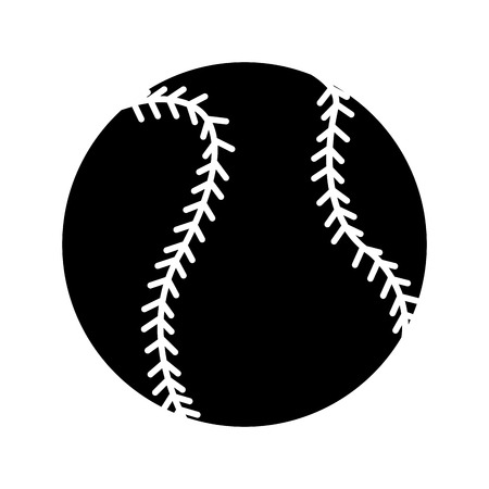 fast pitch: Baseball ball icon image vector illustration design