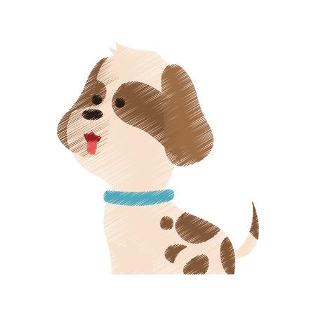 trusting: Dog or puppy house pet icon image vector illustration design Illustration