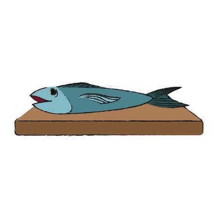 food fish icon image vector illustration design Illustration