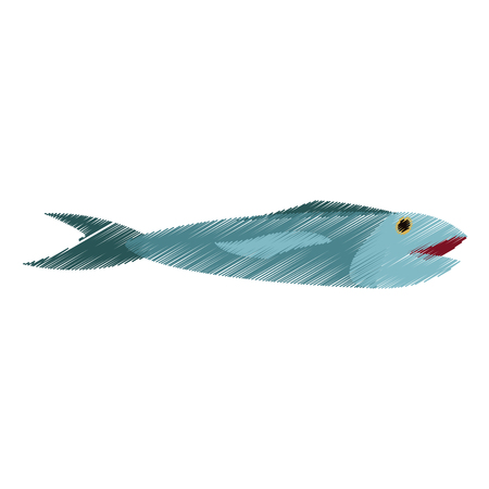 food fish icon image vector illustration design Ilustração