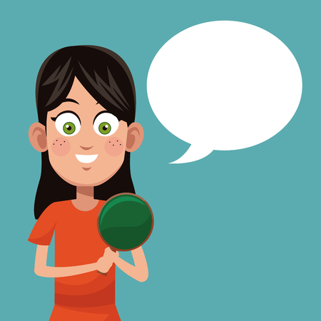 Girl game ping pong practice illustration Illustration