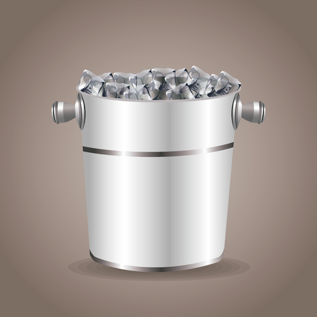 stainless steel: ice bucket beverage equipment vector illustration eps 10