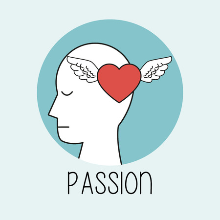 profile human head passion vector illustration eps 10