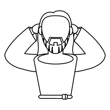 nazareth: jesus christ of nazareth outline vector illustration eps 10
