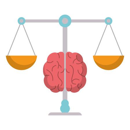 reason: brain balance weight scale vector illustration eps 10