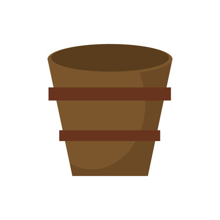 strapping: Wooden bucket empty image vector illustration eps 10. Illustration