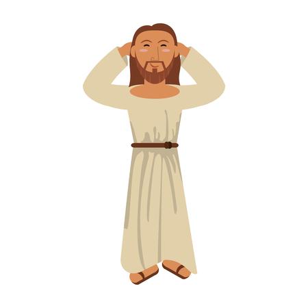 Jesus christ religious catholicism image vector illustration eps 10.