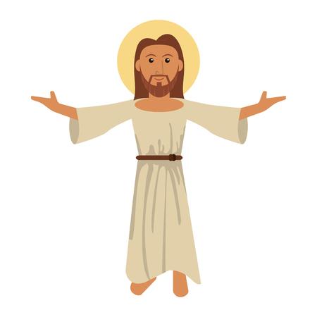 shroud: Jesus christ blessed faith image vector illustration eps 10. Illustration
