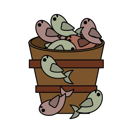 fish bucket multiplication religion vector illustration eps 10