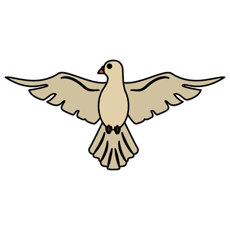 holy spirit dove symbol peace vector illustration eps 10 Illustration