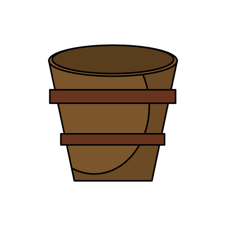 strapping: wooden bucket empty image vector illustration eps 10 Illustration
