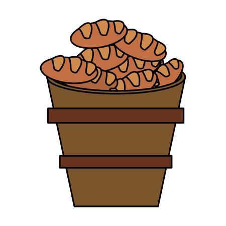 orthodoxy: bread multiplication metaphor religion vector illustration eps 10