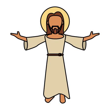 jesus christ catholic image vector illustration eps 10