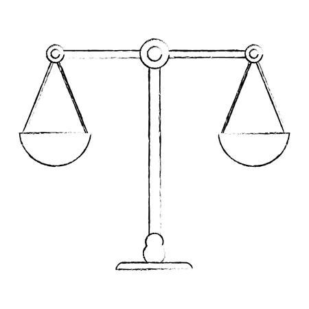 balance justice equality image sketch vector illustration eps 10