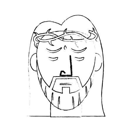 sacrifice: jesus christ devotion sacrifice sketch vector illustration eps 10