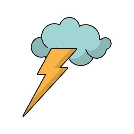 idea concept cloud lightning image vector illustration eps 10 Illustration