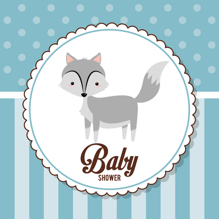 baby shower card invitation funny decorative vector illustration eps 10