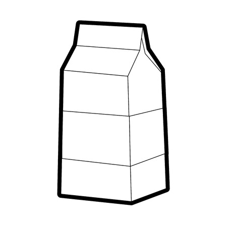 pasteurized: milk carton icon image vector illustration design bold black outline