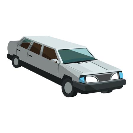 limousine icon over white background. colorful design. vector illustration Illustration