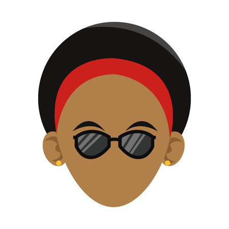 woman with sunglasses,  cartoon icon over white background. colorful design. vector illustration Illustration