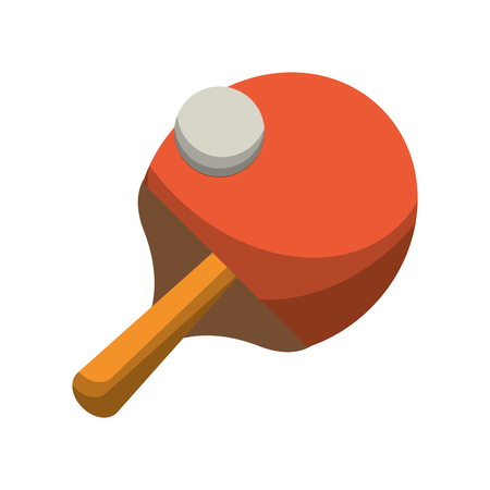 ping pong racket and ball vector illustration eps 10