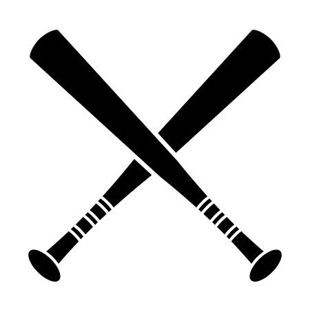 crossed bat baseball sport pictogram vector illustration ep 10