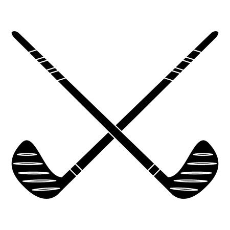 crossed stick hockey sport pictogram vector illustration ep 10
