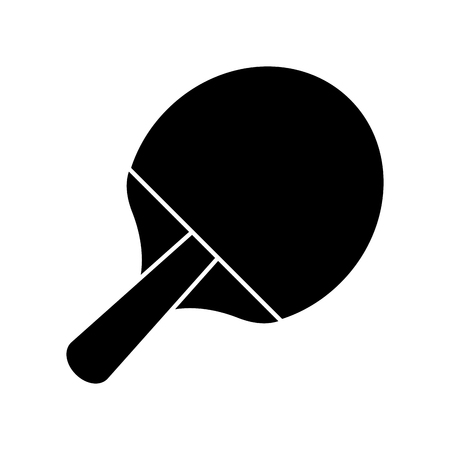 soccer field: racket ping pong sport image pictogram vector illustration ep 10