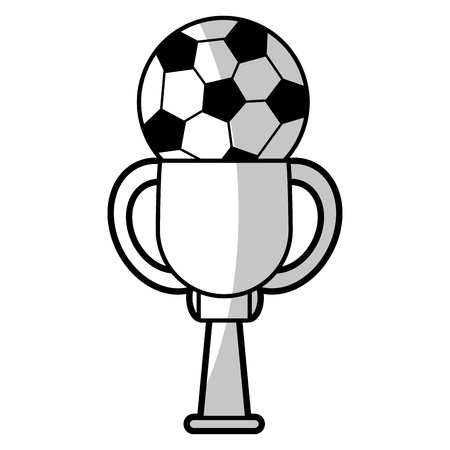 world championships: soccer winner cup - shadow vector illustration eps 10