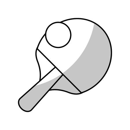 racket ball ping pong game - shadow vector illustration eps 10