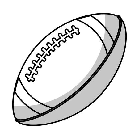 amerian football ball equipment - shadow vector illustration eps 10 Vector Illustration